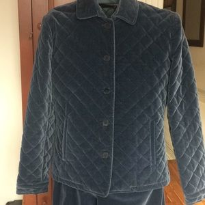 Pant suit quilted jkt & matching pant